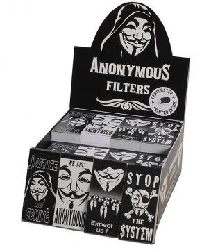 4er Set Filter mit Anonymous Maske