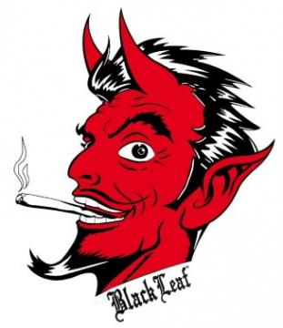 Black Leaf Devil Joint Motiv