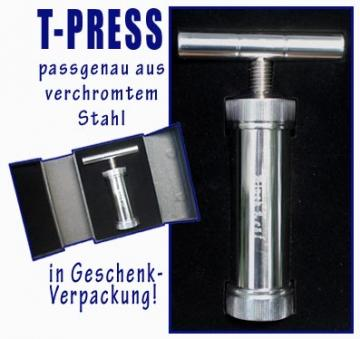 T-Press Pflanzenpresse verchromt