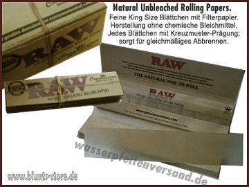 Raw Papers King Size Slim 50er Karton