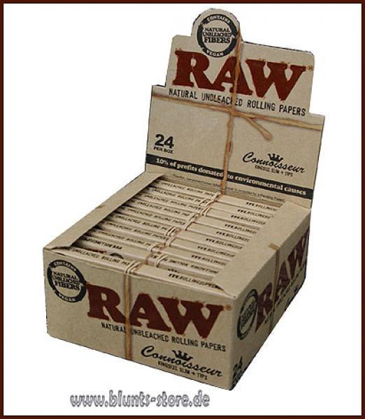 Raw Papers King Size Slim und Tips 24er Karton