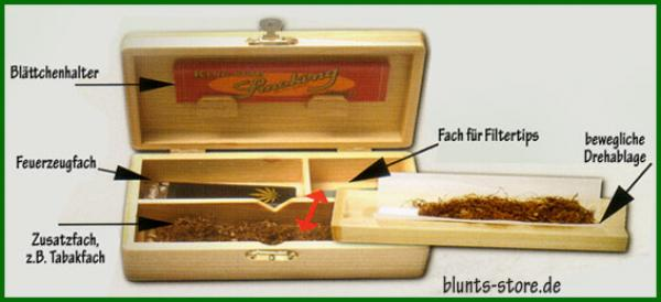 Spliff Joint Box für Tips, Papers